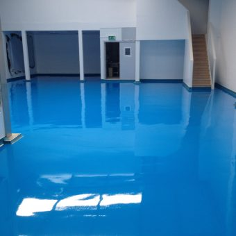 Anti static resin flooring for a manufacturing cleanroom resin flooring smooth easy to clean (1)