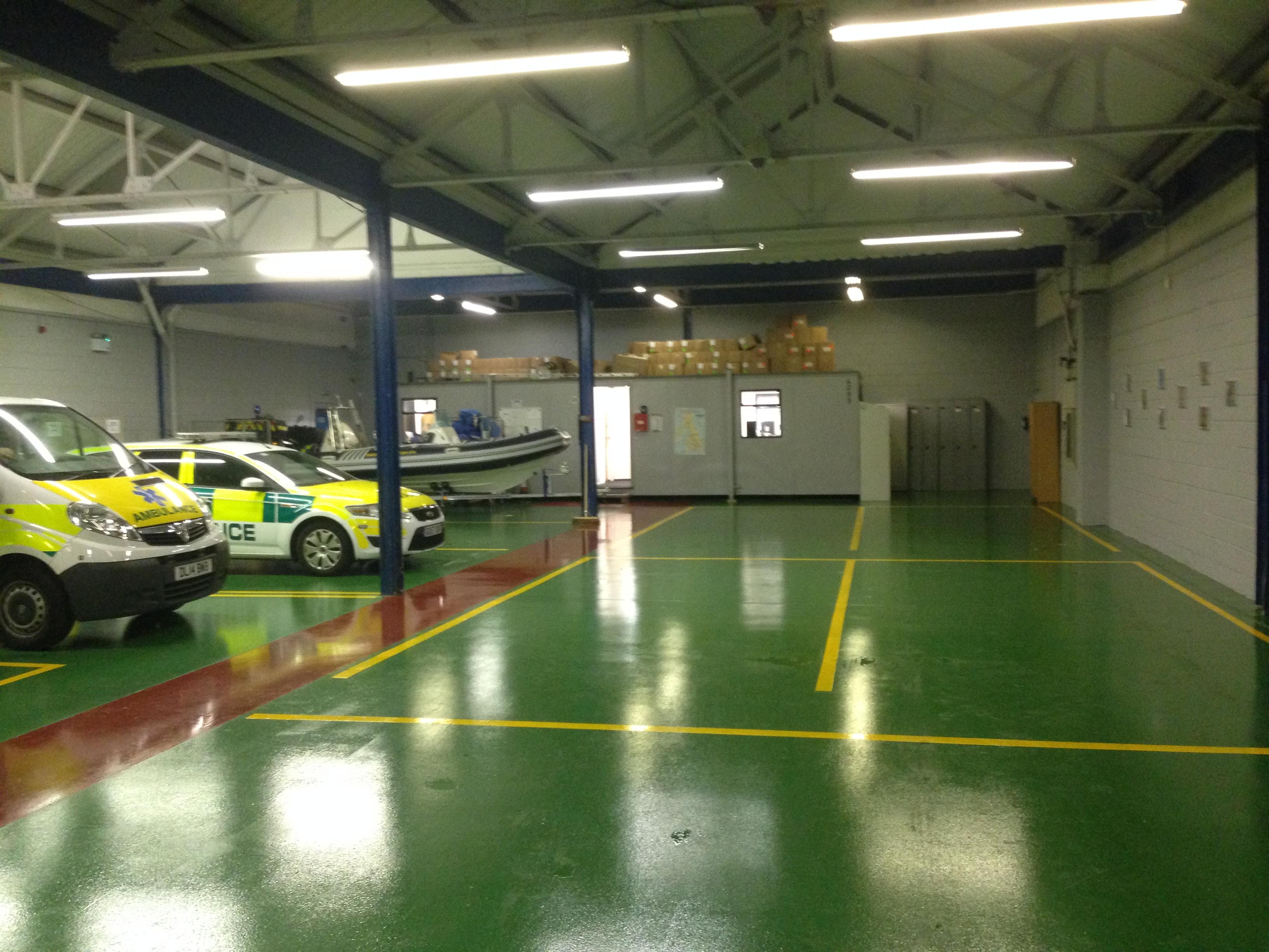 Ambulance Station Workshop Resin Flooring Acl Industrial