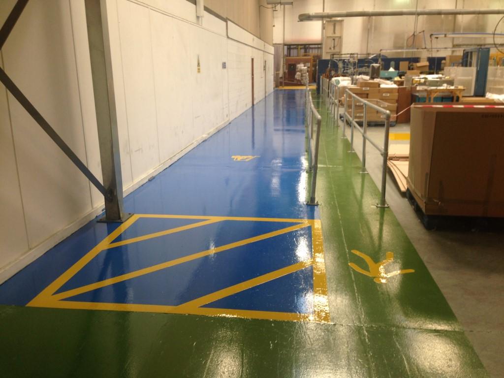 Resin Flooring Walkway And Forklift Isleways For