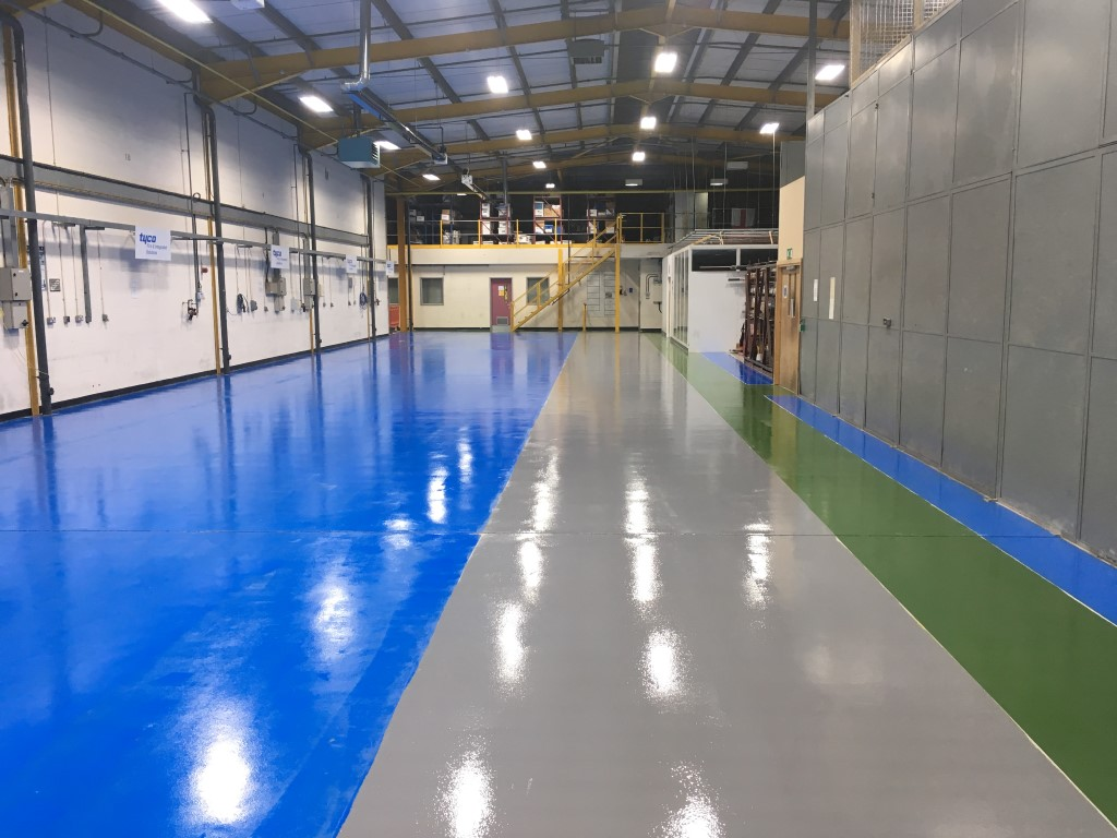 Manchester resin flooring project after the first coat