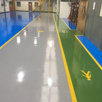 Resin flooring project in Manchester